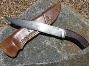 Chet Deubel Comanche Damascus Bowie Knife