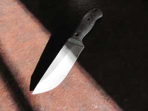 Dawson Large Up-swept Military Knife