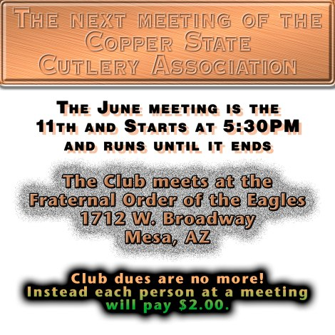 Copper State Cutlery Association meeting