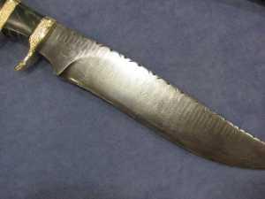 One Jim Gill's beautiful Damascus pattern knives