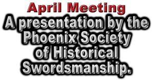 April Meeting Subject