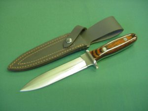 Rose Wood Double Edge Dagger