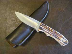 Jeff Chaffee Drop Point with Stag