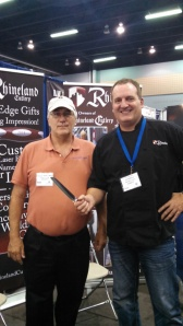 Phil McMahon of Rhineland Cutlery. Beautiful kitchen knives made in Geremany which I will soon be selling.