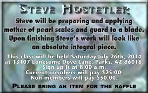Steve Hostetler July Class