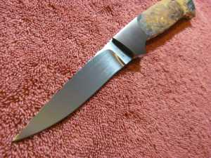 Straight Back Hunter by Mike Zscherny Scrimshaw by Rick B. Field