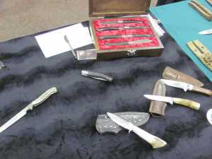 Dave's knives. Notice the beautiful box set of steak knives