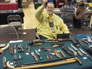 Gary Field and his some of his nice knife collection