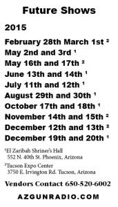 2015 Show Schedules
