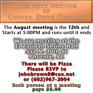 August Meeting Page